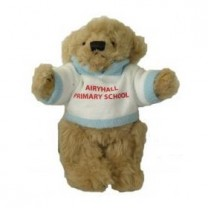 fully jointed school bear fleece