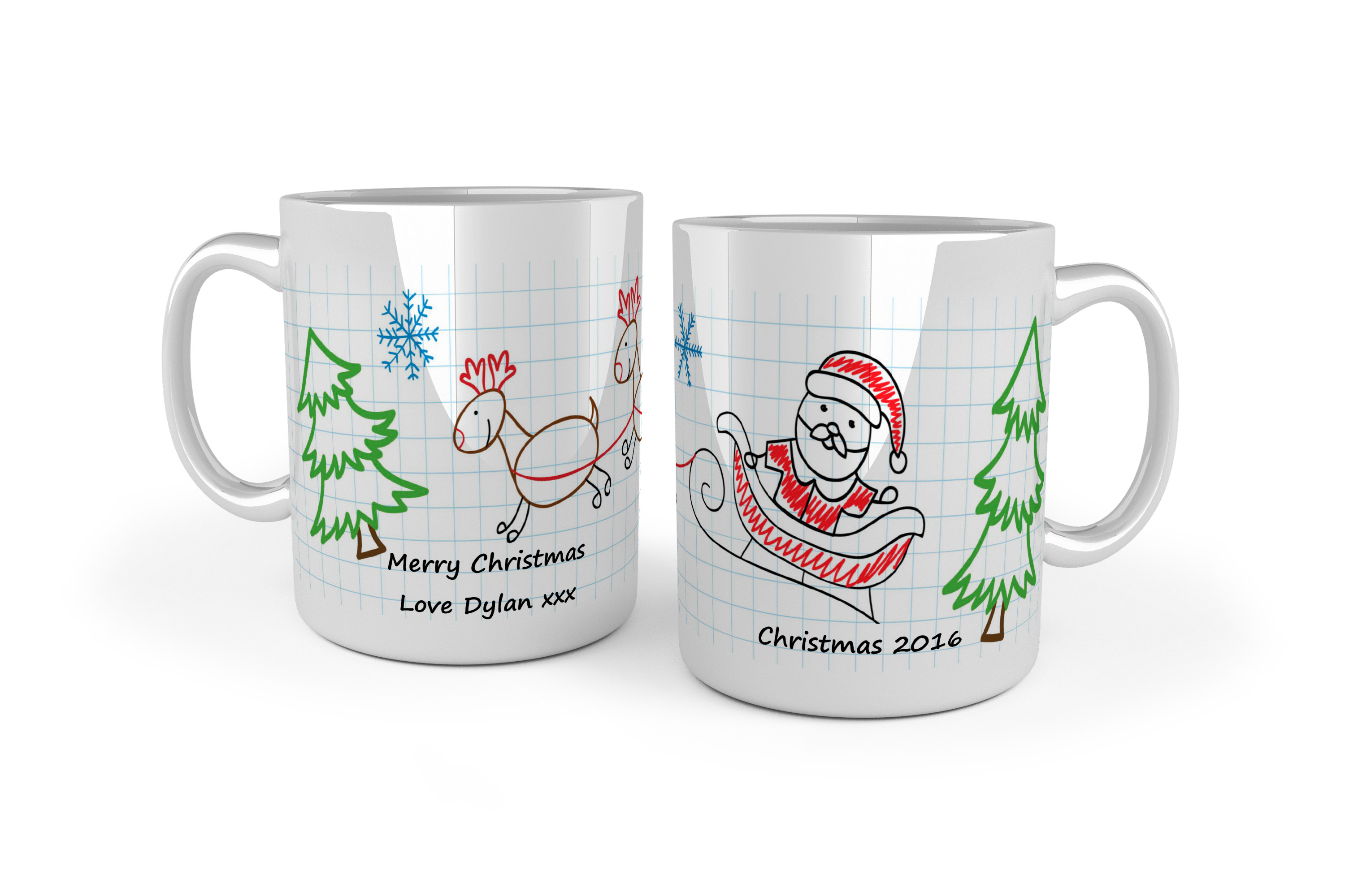 Personalised Christmas Mugs School Bears