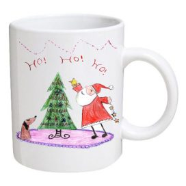 Christmas mugs for schools school bears Design your own mugs uk