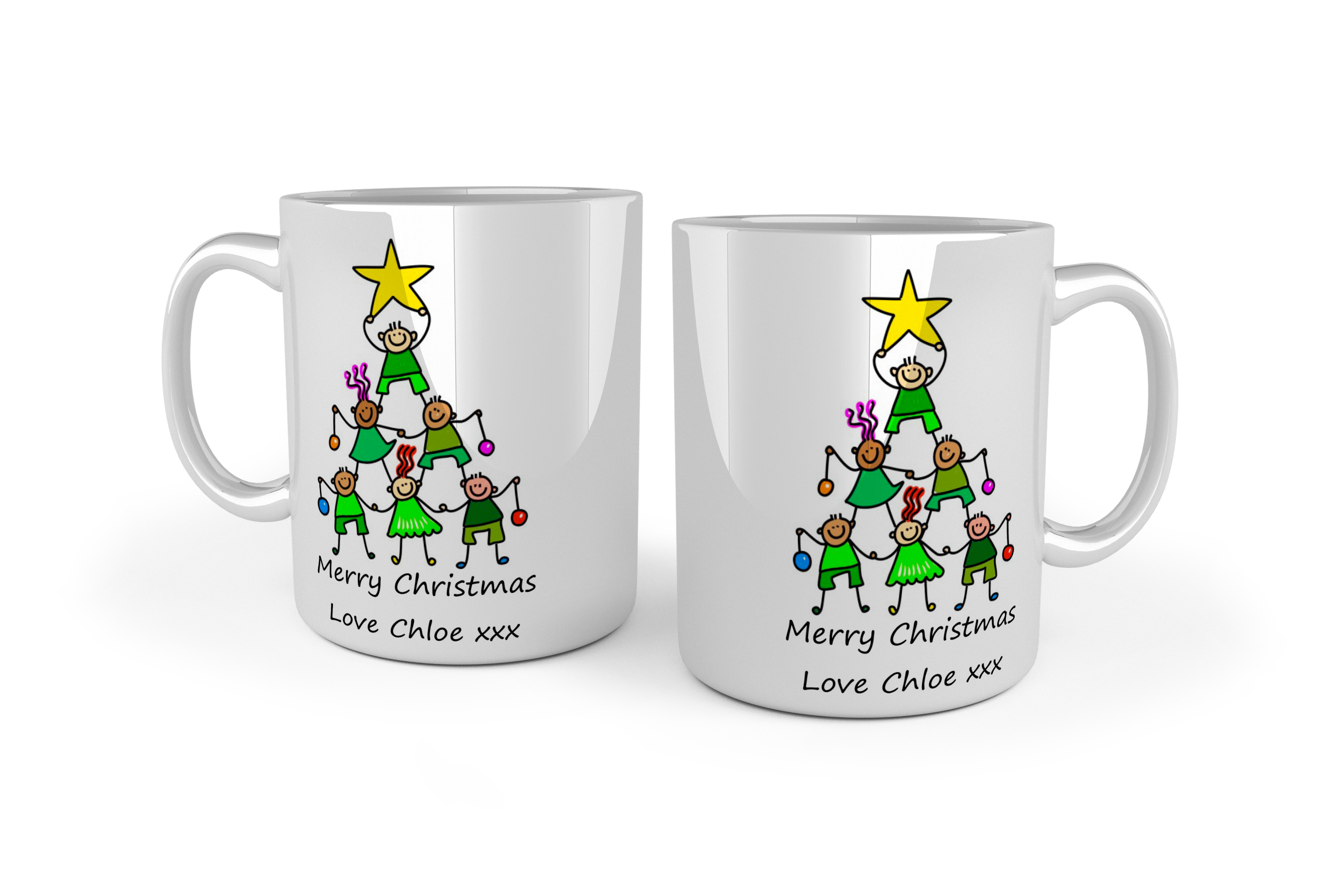 Christmas Mugs.Your Own Artwork Christmas Mugs