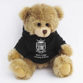 fully jointed bear with hoodie