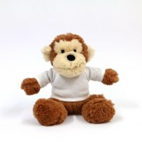 personalised monkey teddy small